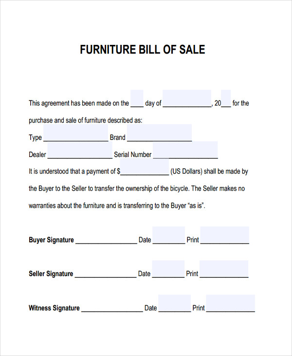 Furniture Bill of Sale, Furniture Bill of Sale Template, Furniture Bill of Sale Example, Bill of Sale Form, Bill of Sale, Bill of Sale Template, Bill of Sale Format