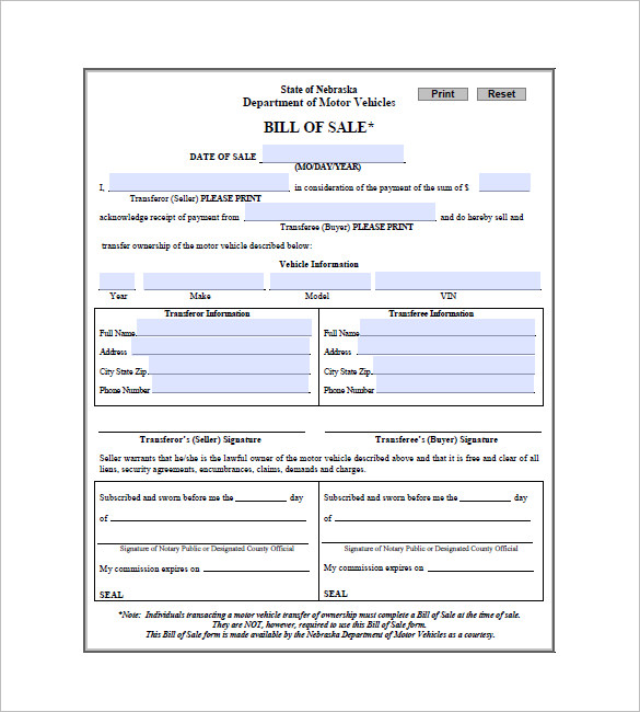 bill of sale download bill of sale bill of sale form bill of